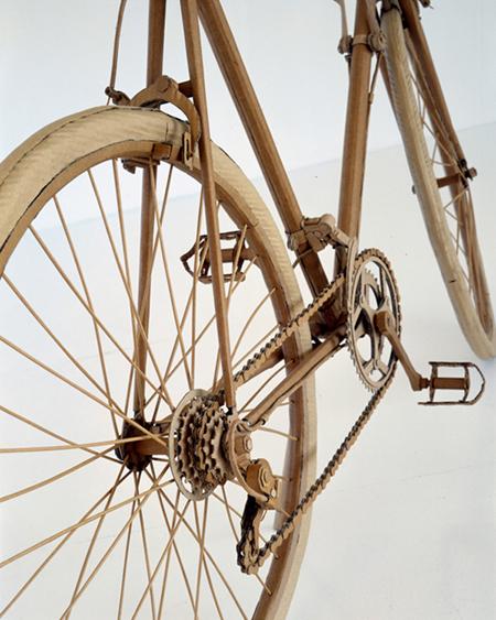 Chris Gilmour cardboard racing bike