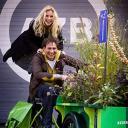 Annelieke Bouwers Eric Bouwman groene bakfiets